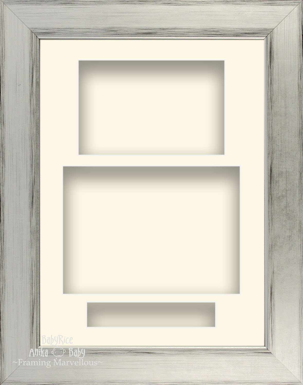 21-6cm-X-29-2cm-Plateado-Negro-Retrato-Profundo-Shadow-Caja-Marco-de-Fotos-3