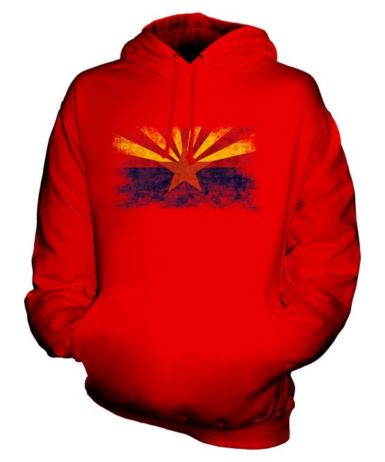 Arizona State Bandiera Bandiera Bandiera Effetto Consumato Felpa Unisex Maglia Arizonian Regalo 33396c