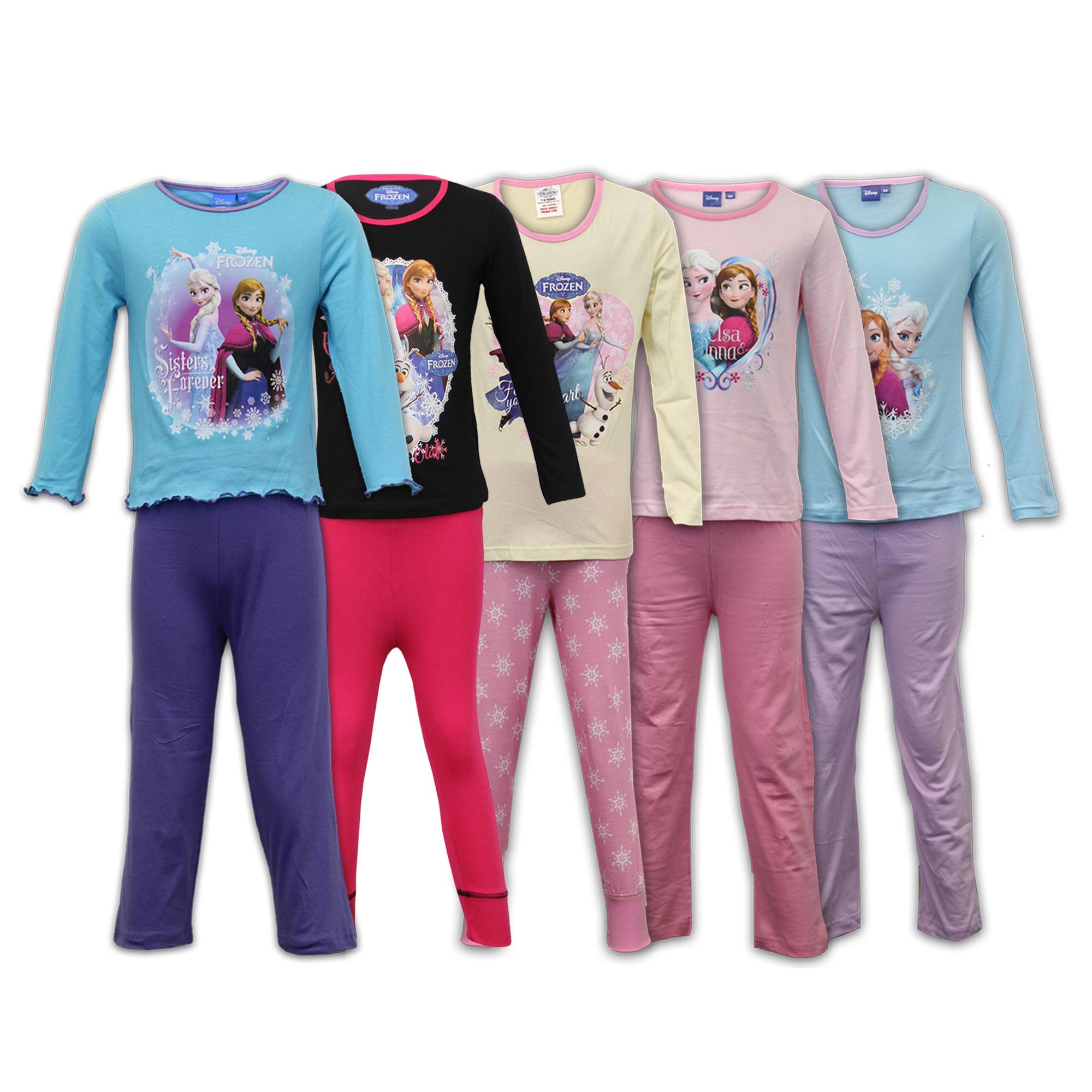 più amato 73766 e4cbd Dettagli su Pigiama Bimba Bambini Set Frozen Disney Abbigliamento da Notte  Maglia