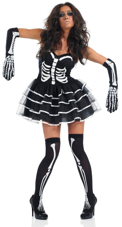 femme-sexy-os-squelette-tutu-Halloween-deguisement-costume-pour-femmes-Tenue