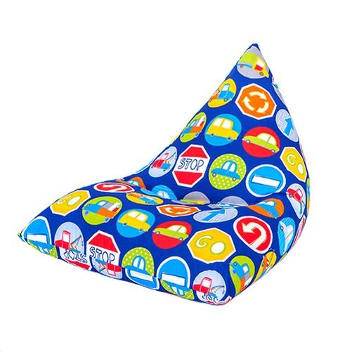 Pour-Enfants-Pyramide-Forme-Pouf-Poire-Chaise-De-Jeux-Grand
