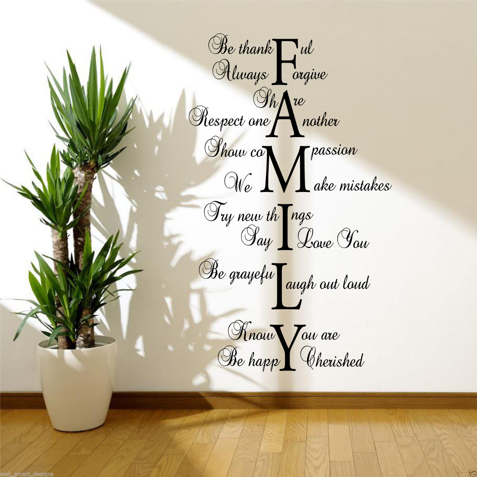 Family love life wall art sticker quote room decal mural transfer family love life wall art sticker quote room amipublicfo Choice Image
