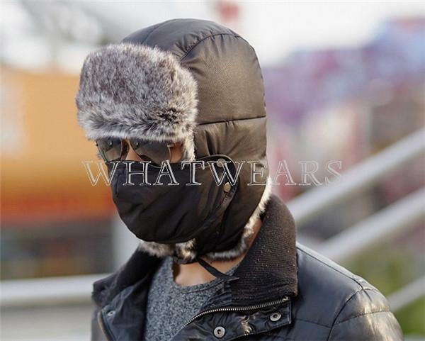 Hombre Mujer Cálido De Invierno Cazador Aviador Soldado Orejeras Gorros De Esquí