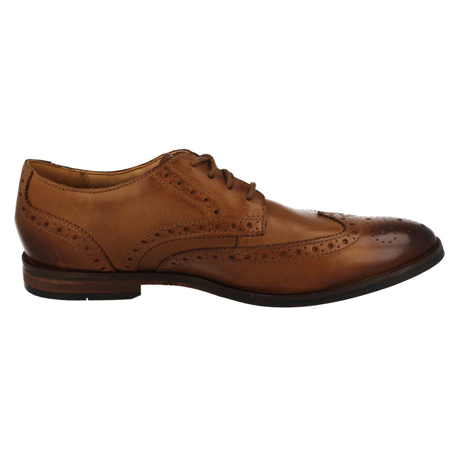 Hombre-Clarks-Zapatos-Oxford-con-Cordones-039-Broyd-Limite-039