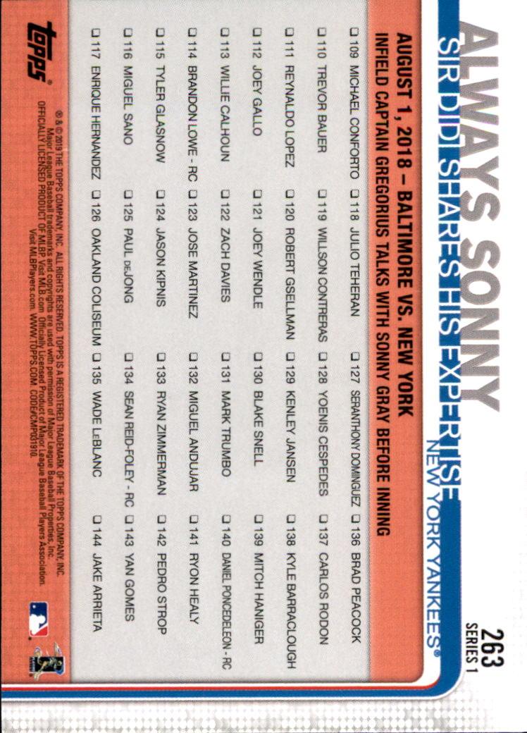 2019-Topps-Baseball-Scheda-Scegliere-251-500 miniatura 27