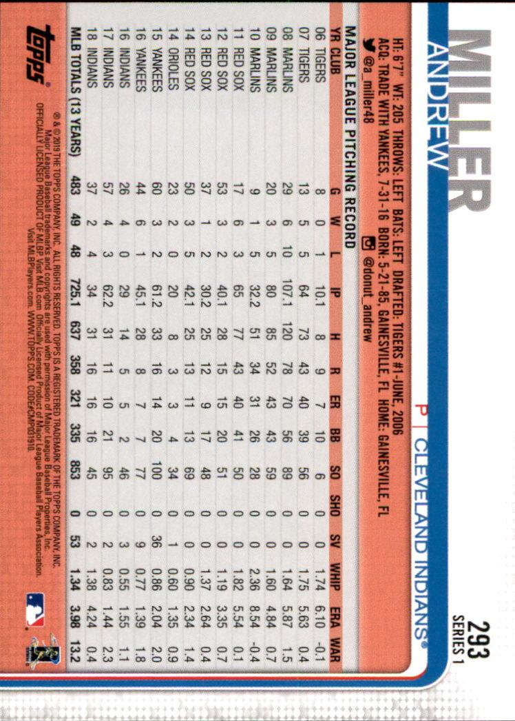 2019-Topps-Baseball-Scheda-Scegliere-251-500 miniatura 87