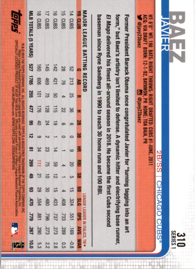 2019-Topps-Baseball-Scheda-Scegliere-251-500 miniatura 121