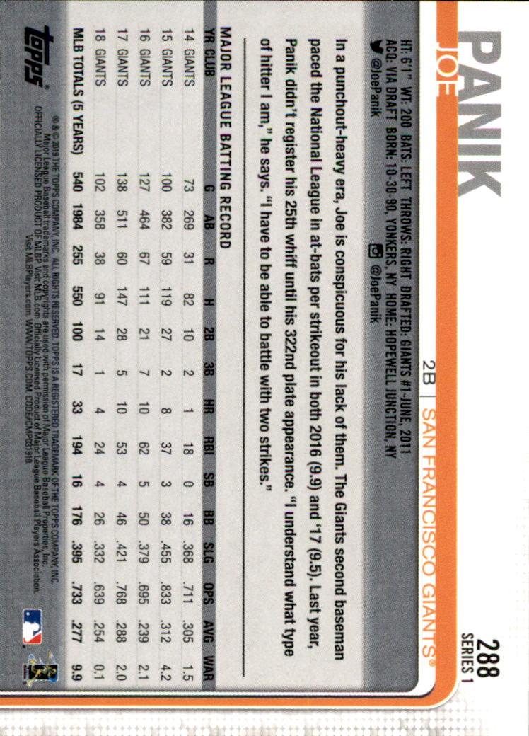 2019-Topps-Baseball-Scheda-Scegliere-251-500 miniatura 77