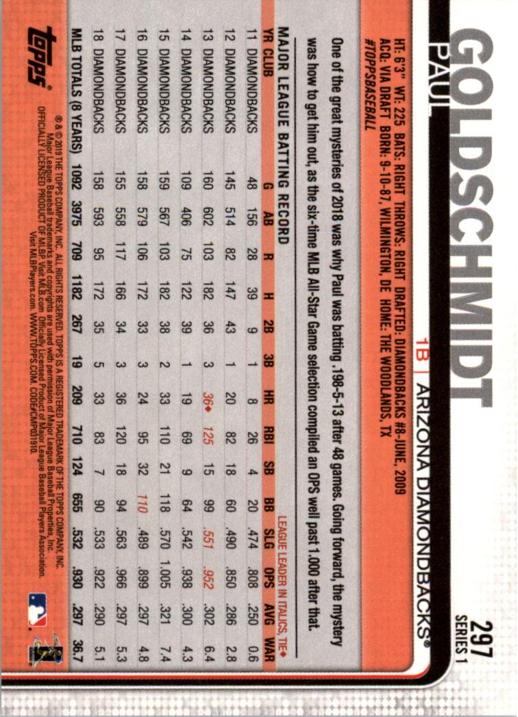 2019-Topps-Baseball-Scheda-Scegliere-251-500 miniatura 95