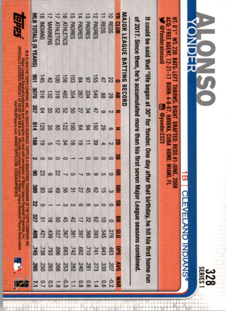 2019-Topps-Baseball-Scheda-Scegliere-251-500 miniatura 157