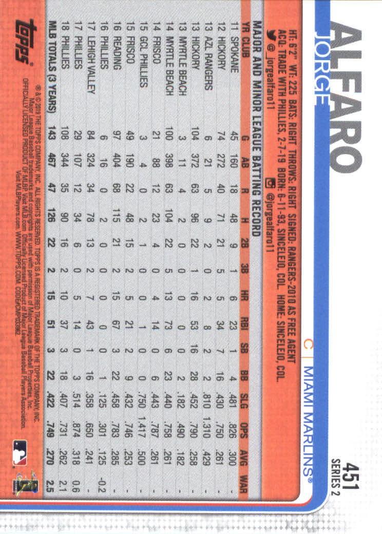 2019-Topps-Baseball-Scheda-Scegliere-251-500 miniatura 393