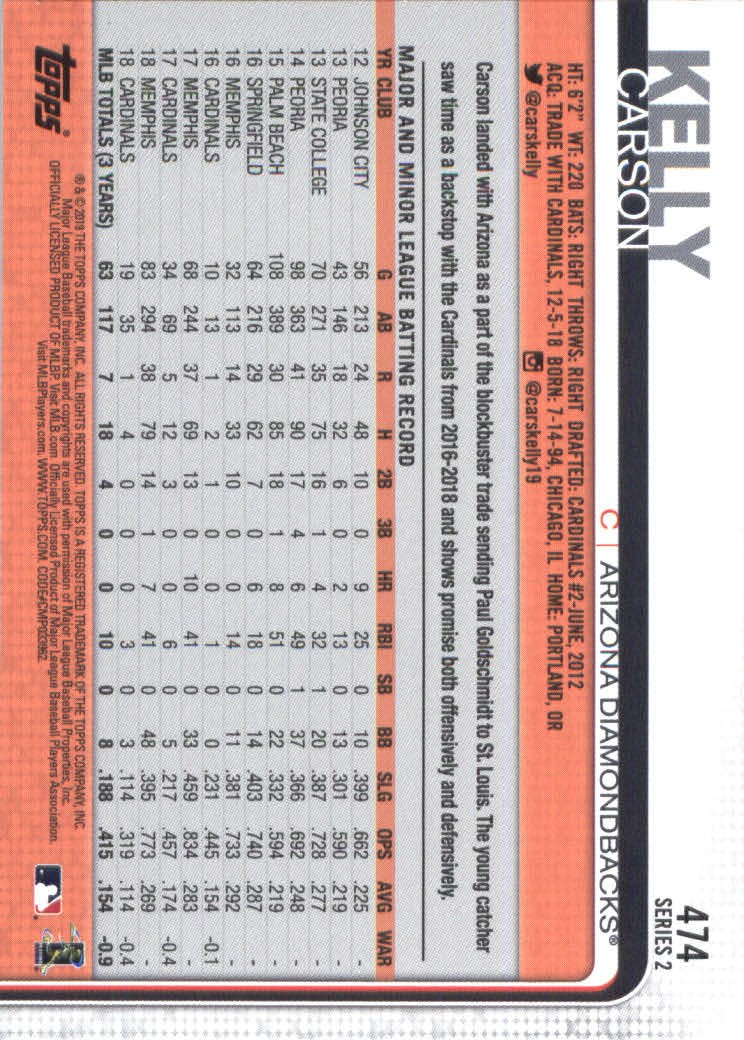 2019-Topps-Baseball-Scheda-Scegliere-251-500 miniatura 431