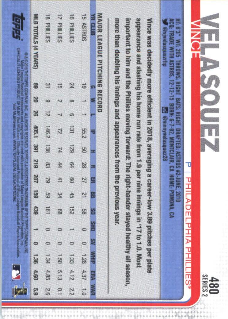 2019-Topps-Baseball-Scheda-Scegliere-251-500 miniatura 441