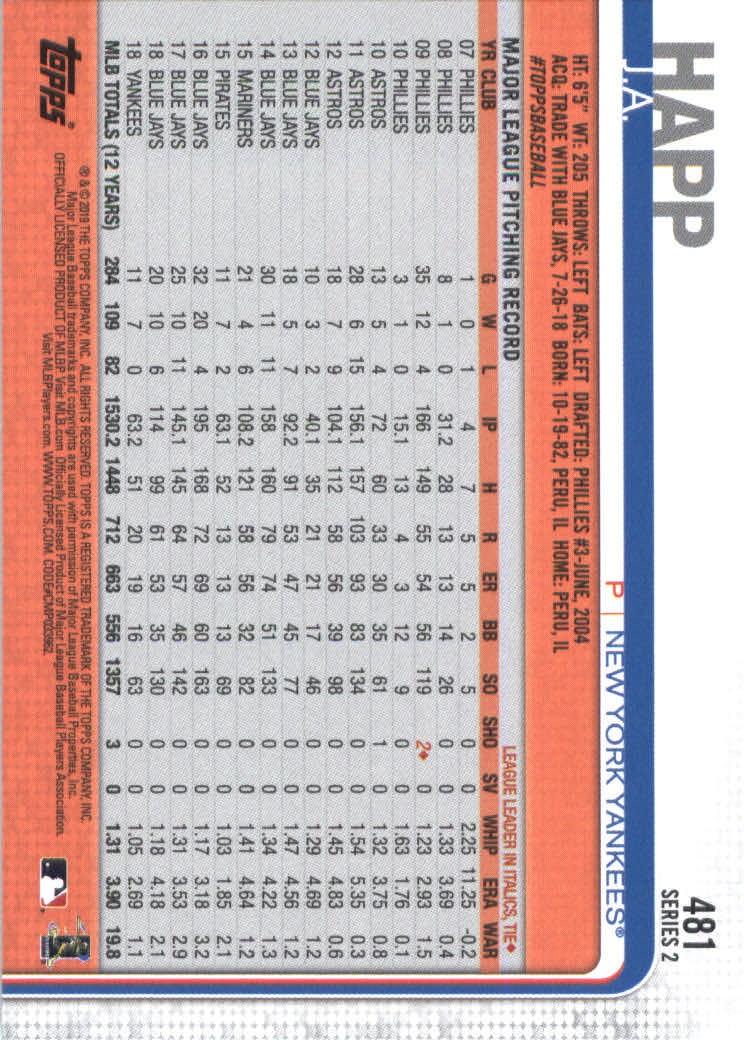 2019-Topps-Baseball-Scheda-Scegliere-251-500 miniatura 443