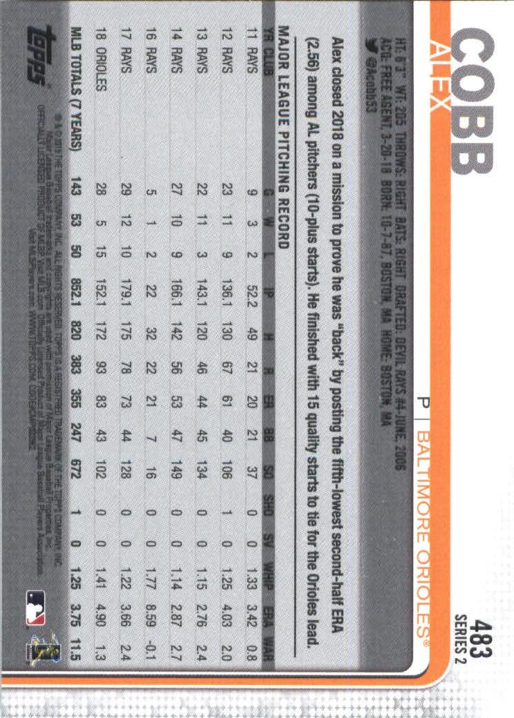 2019-Topps-Baseball-Scheda-Scegliere-251-500 miniatura 447