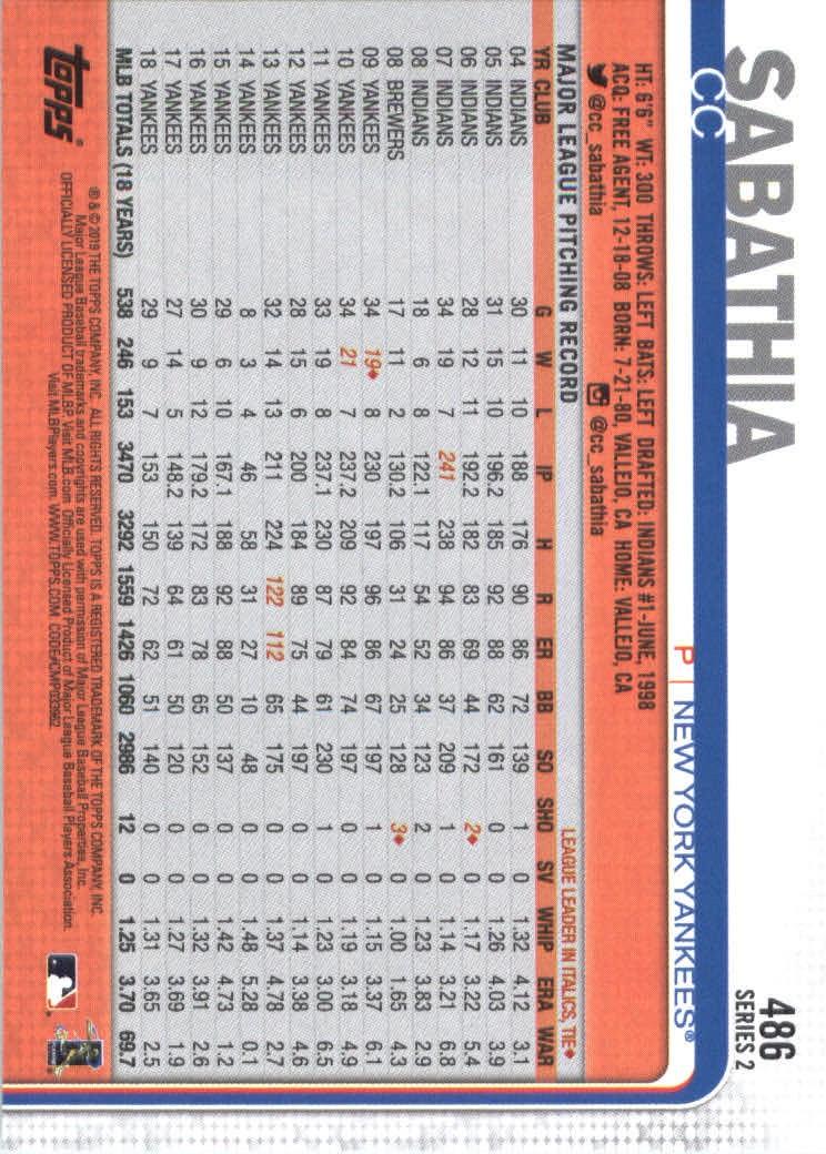 2019-Topps-Baseball-Scheda-Scegliere-251-500 miniatura 453