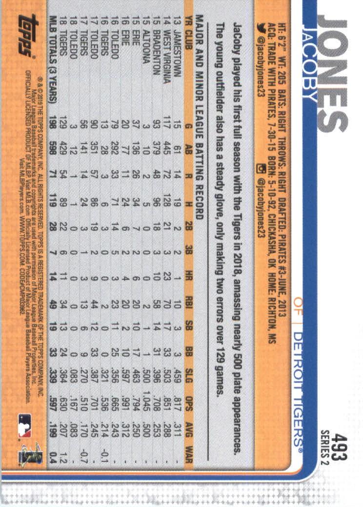 2019-Topps-Baseball-Scheda-Scegliere-251-500 miniatura 467