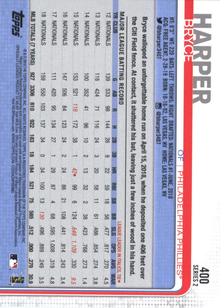 2019-Topps-Baseball-Scheda-Scegliere-251-500 miniatura 299