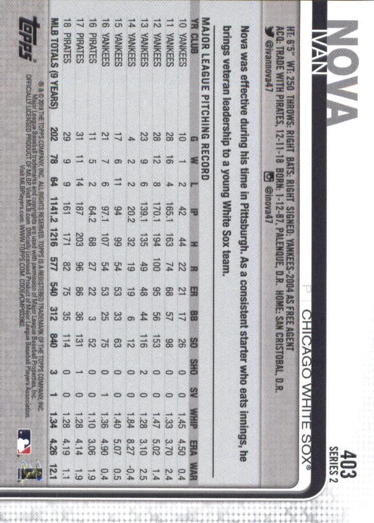 2019-Topps-Baseball-Scheda-Scegliere-251-500 miniatura 303