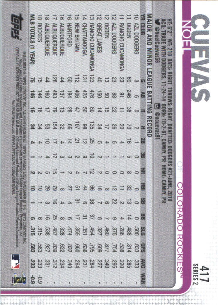 2019-Topps-Baseball-Scheda-Scegliere-251-500 miniatura 327