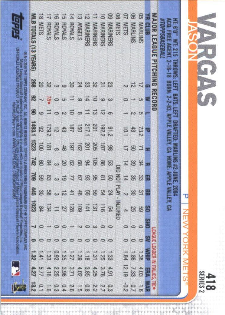 2019-Topps-Baseball-Scheda-Scegliere-251-500 miniatura 329