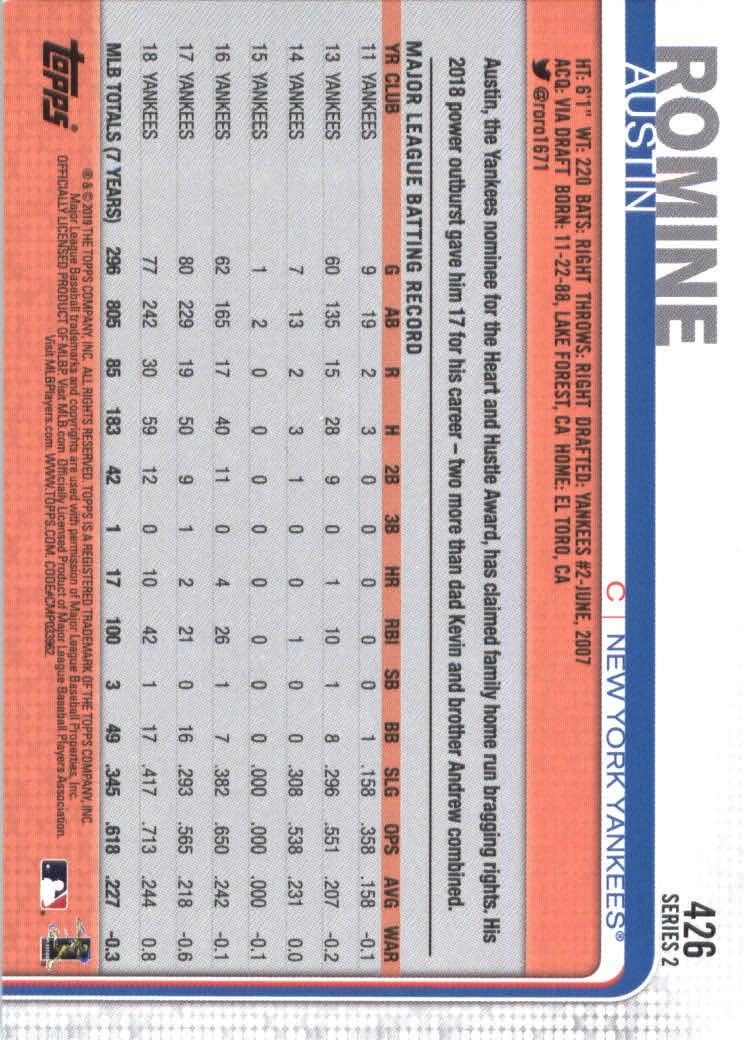 2019-Topps-Baseball-Scheda-Scegliere-251-500 miniatura 345