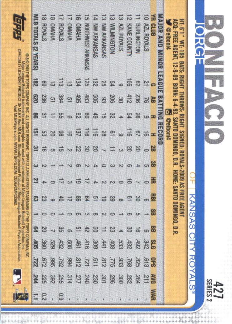 2019-Topps-Baseball-Scheda-Scegliere-251-500 miniatura 347
