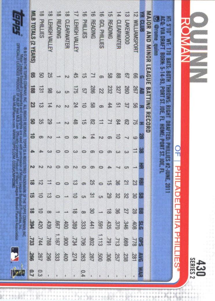 2019-Topps-Baseball-Scheda-Scegliere-251-500 miniatura 353