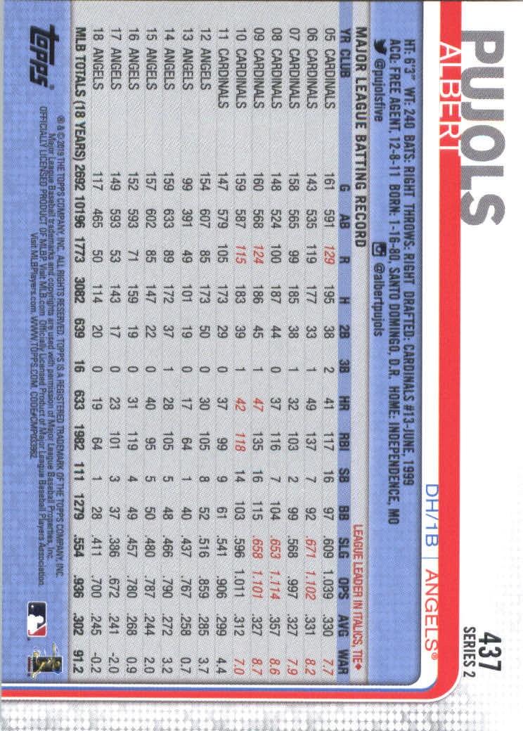2019-Topps-Baseball-Scheda-Scegliere-251-500 miniatura 367