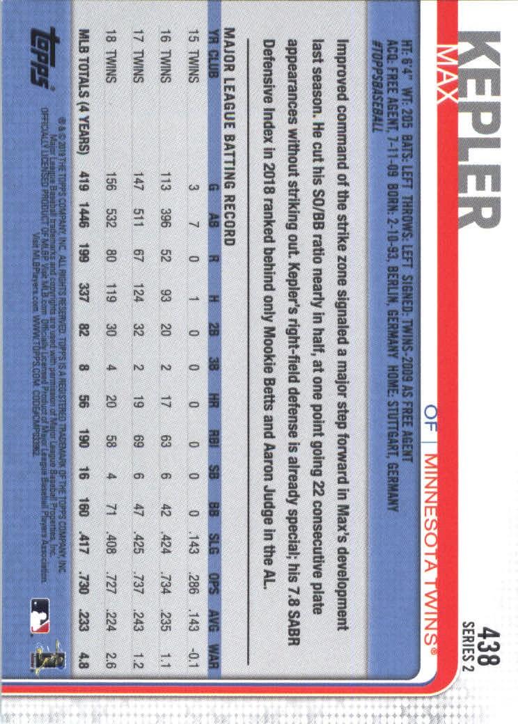 2019-Topps-Baseball-Scheda-Scegliere-251-500 miniatura 369