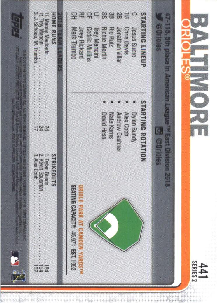 2019-Topps-Baseball-Scheda-Scegliere-251-500 miniatura 375