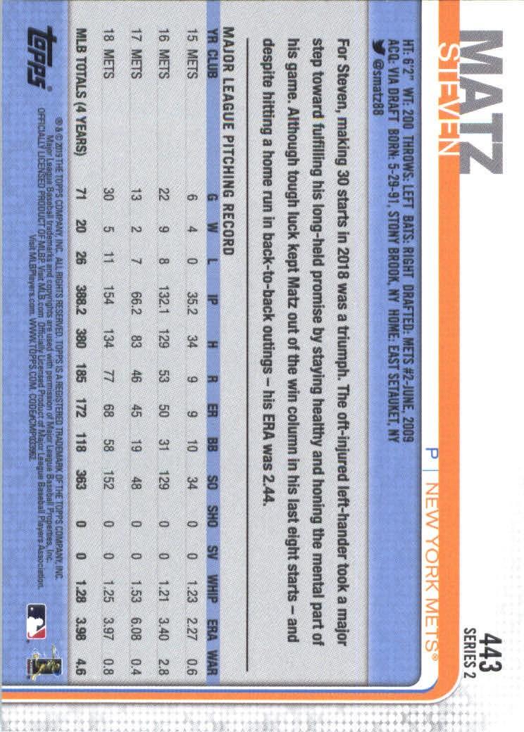 2019-Topps-Baseball-Scheda-Scegliere-251-500 miniatura 377