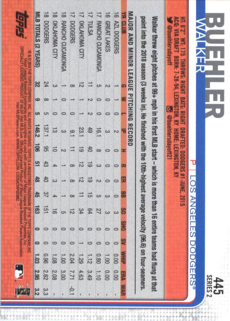 2019-Topps-Baseball-Scheda-Scegliere-251-500 miniatura 381