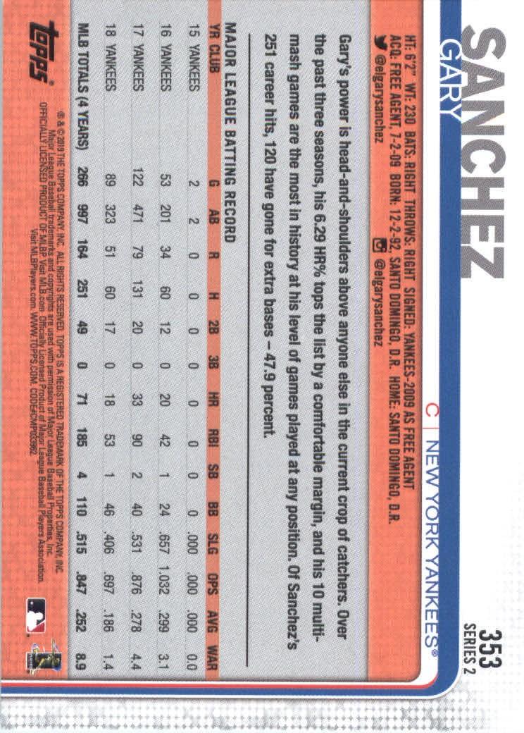 2019-Topps-Baseball-Scheda-Scegliere-251-500 miniatura 207