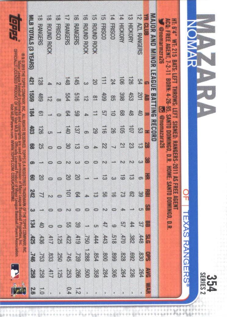 2019-Topps-Baseball-Scheda-Scegliere-251-500 miniatura 209