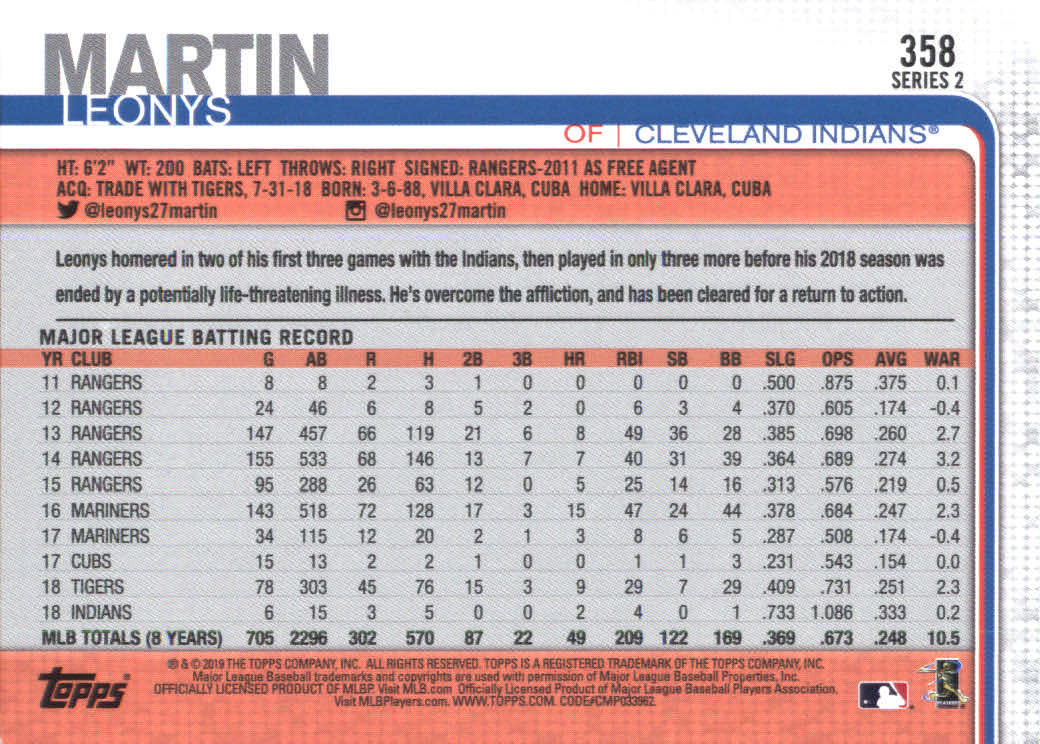2019-Topps-Baseball-Scheda-Scegliere-251-500 miniatura 217