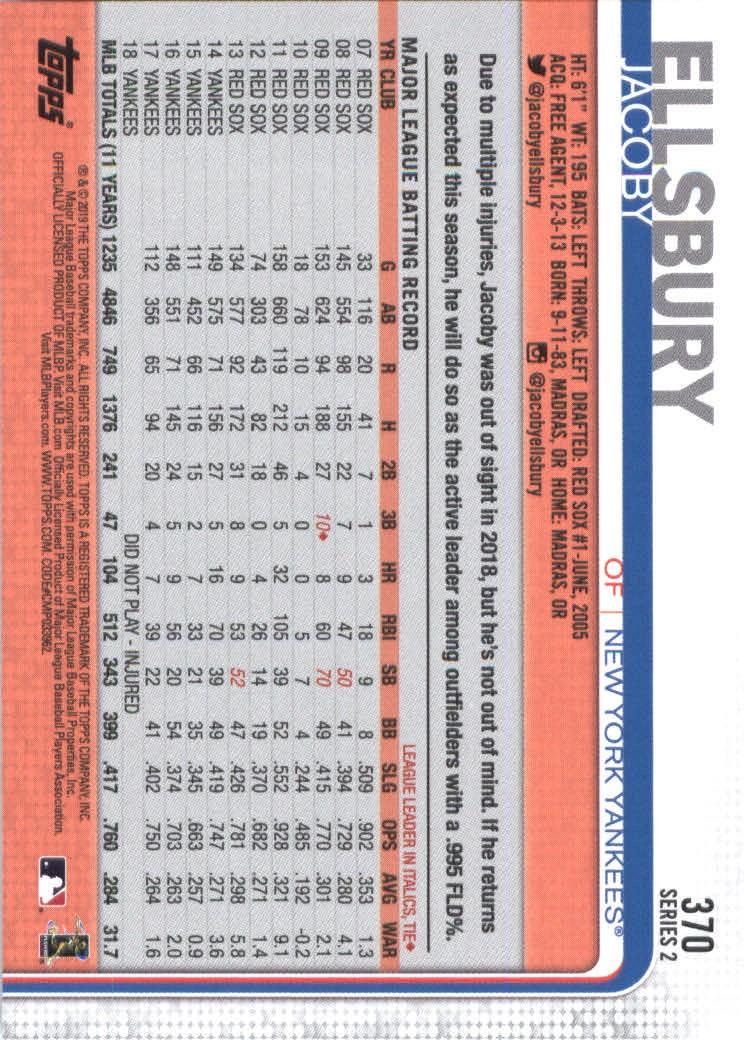 2019-Topps-Baseball-Scheda-Scegliere-251-500 miniatura 241
