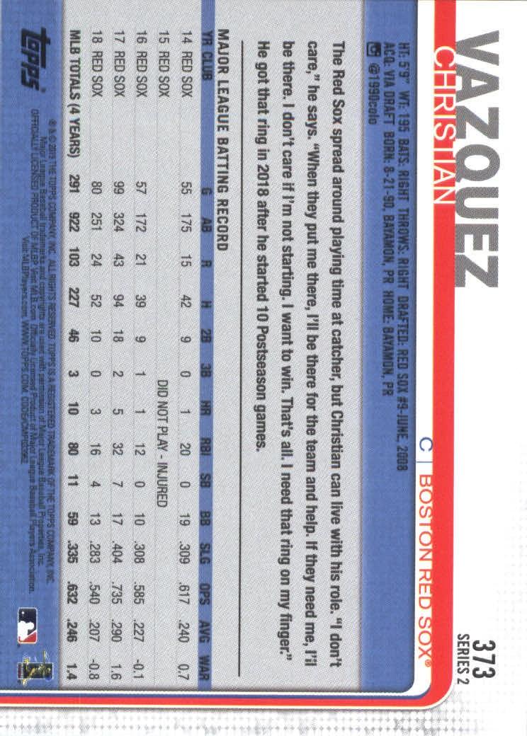 2019-Topps-Baseball-Scheda-Scegliere-251-500 miniatura 247