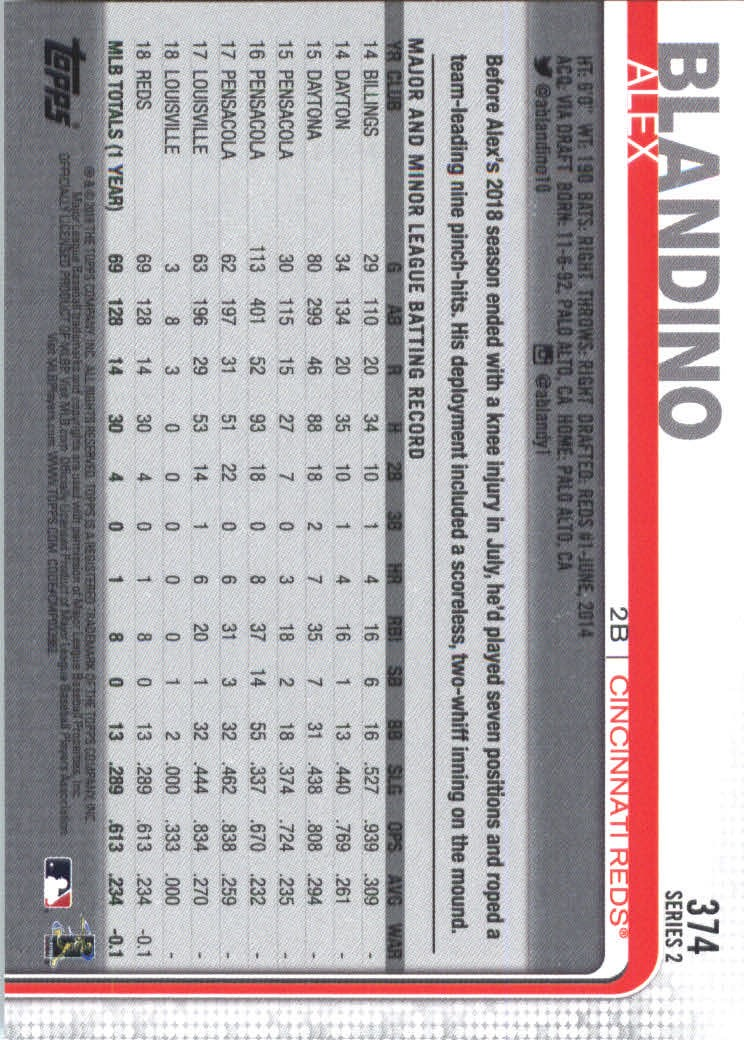 2019-Topps-Baseball-Scheda-Scegliere-251-500 miniatura 249