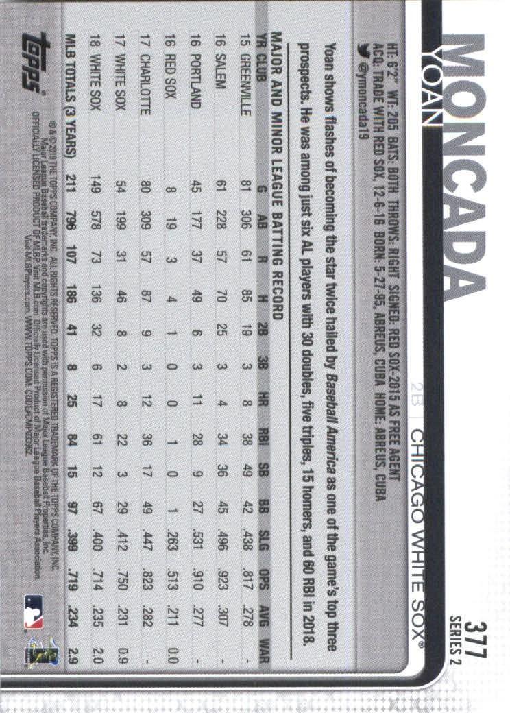 2019-Topps-Baseball-Scheda-Scegliere-251-500 miniatura 253