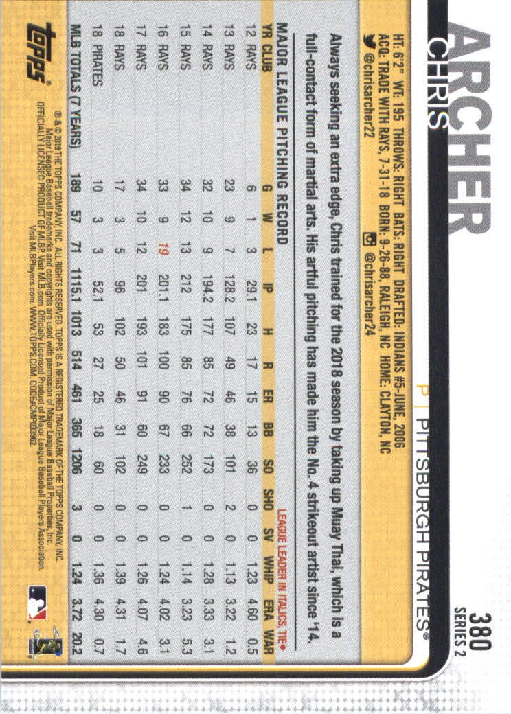 2019-Topps-Baseball-Scheda-Scegliere-251-500 miniatura 259