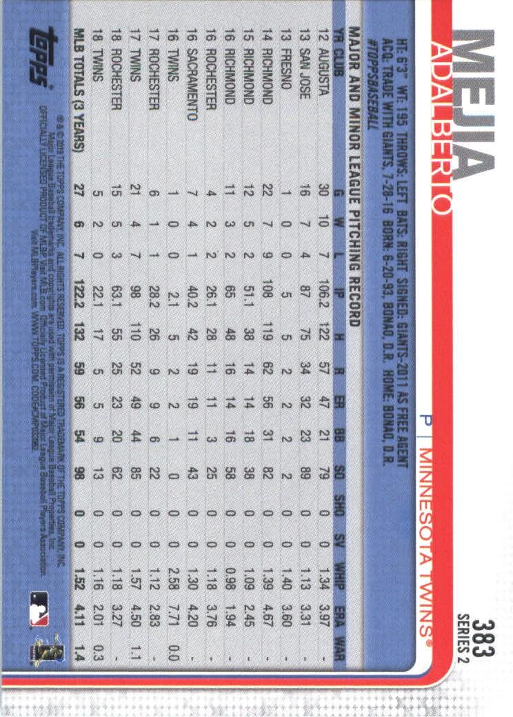 2019-Topps-Baseball-Scheda-Scegliere-251-500 miniatura 265