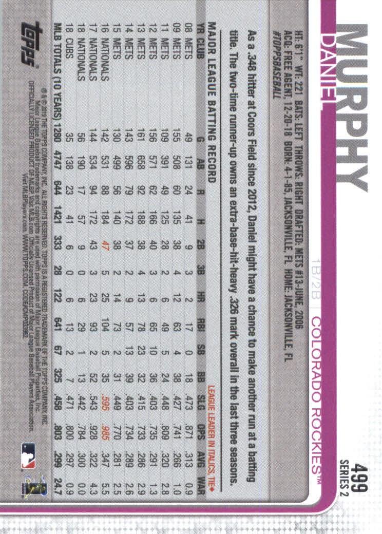 2019-Topps-Baseball-Scheda-Scegliere-251-500 miniatura 479