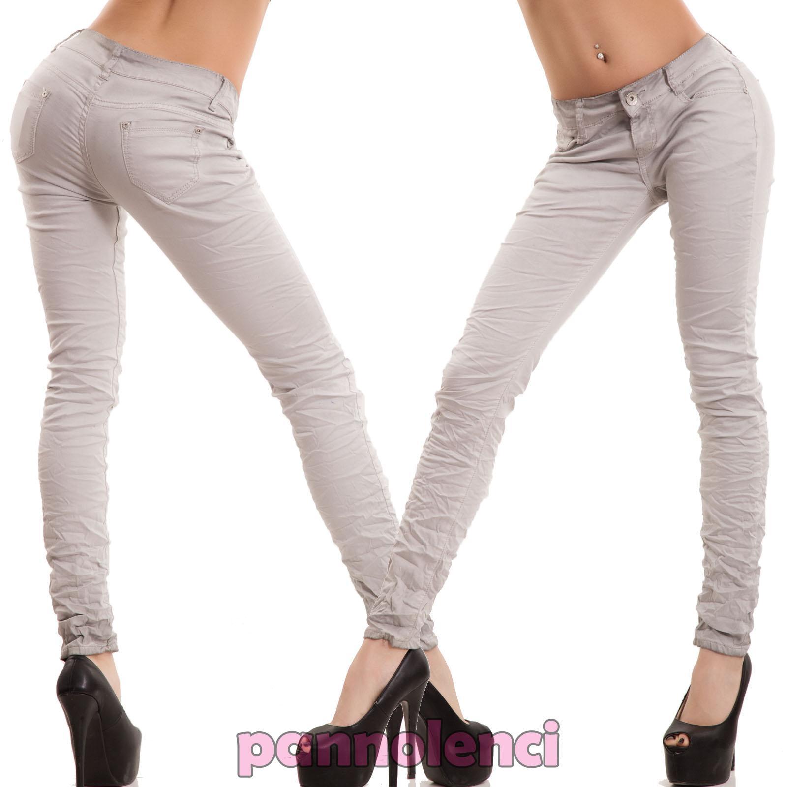 Vaqueros-de-mujer-eslasticos-ajustado-delgado-flaco-gris-nuevo-P1552-2
