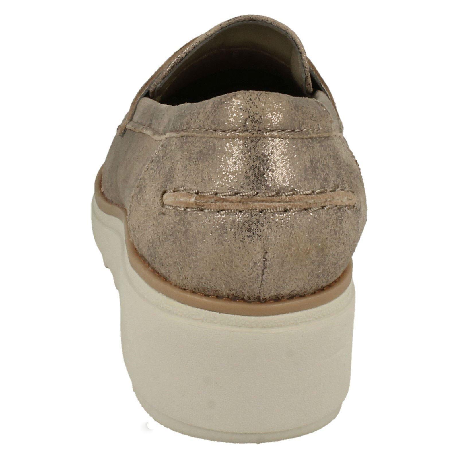 Para Cuña Zapatos De Sin Ranch Casual Cordones Mujer Clarks Sharon rAqfrP