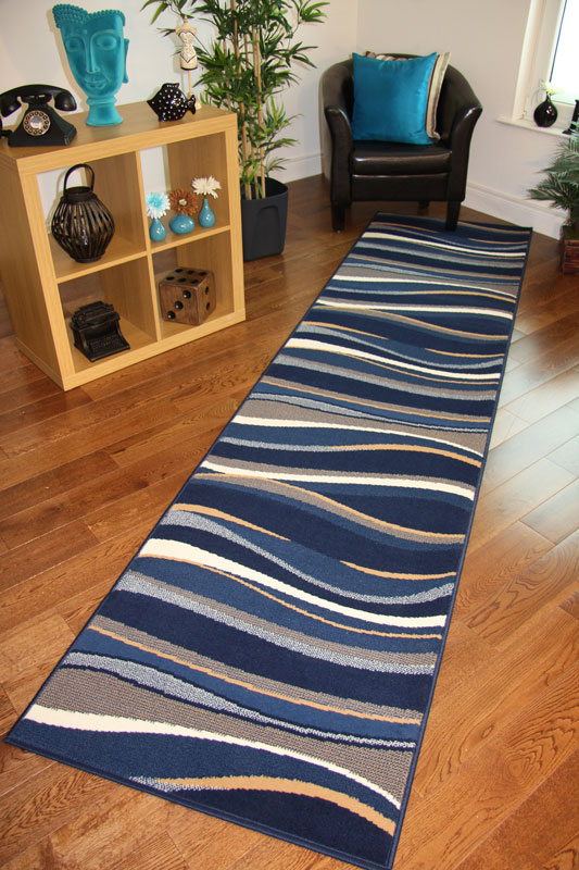 Navy Blue Rug Runner Home Decor