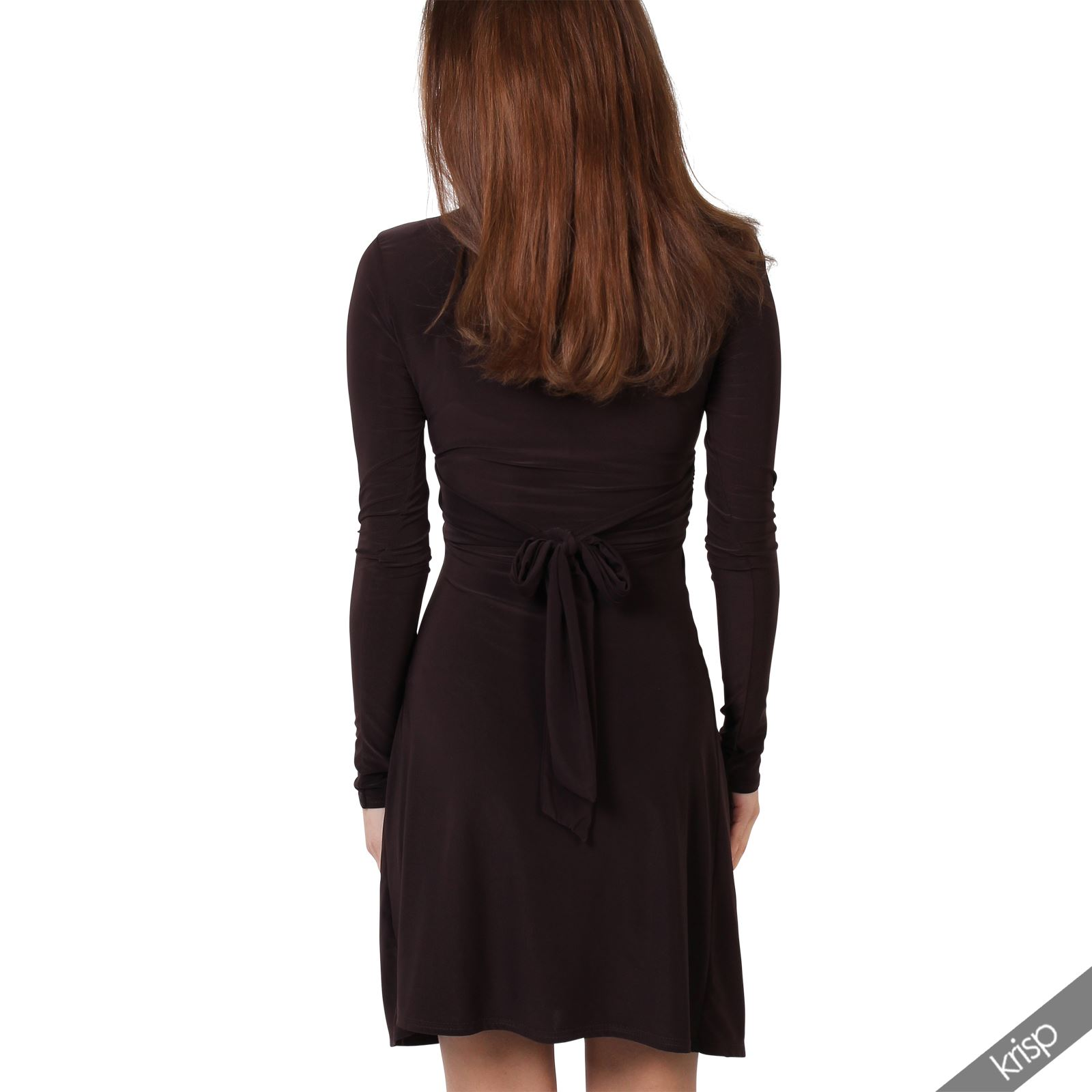 Ruched Drape Stretch Front Twist Knot Shift Mini Dress Tie Belted ...