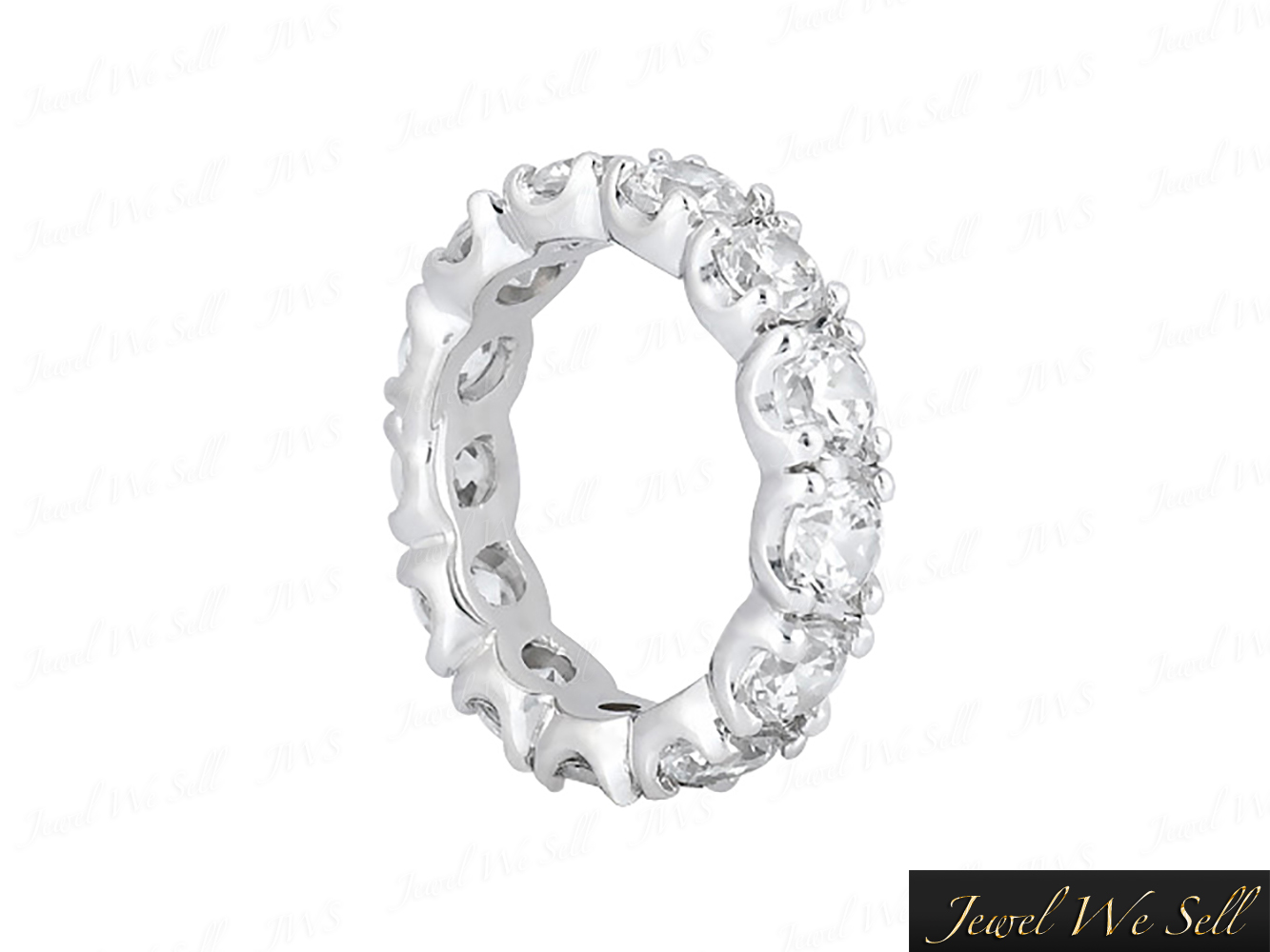 2-00Ct-Round-Brilliant-Cut-Diamond-U-Prong-Eternity-Band-Ring-950-Platinum-F-VS1