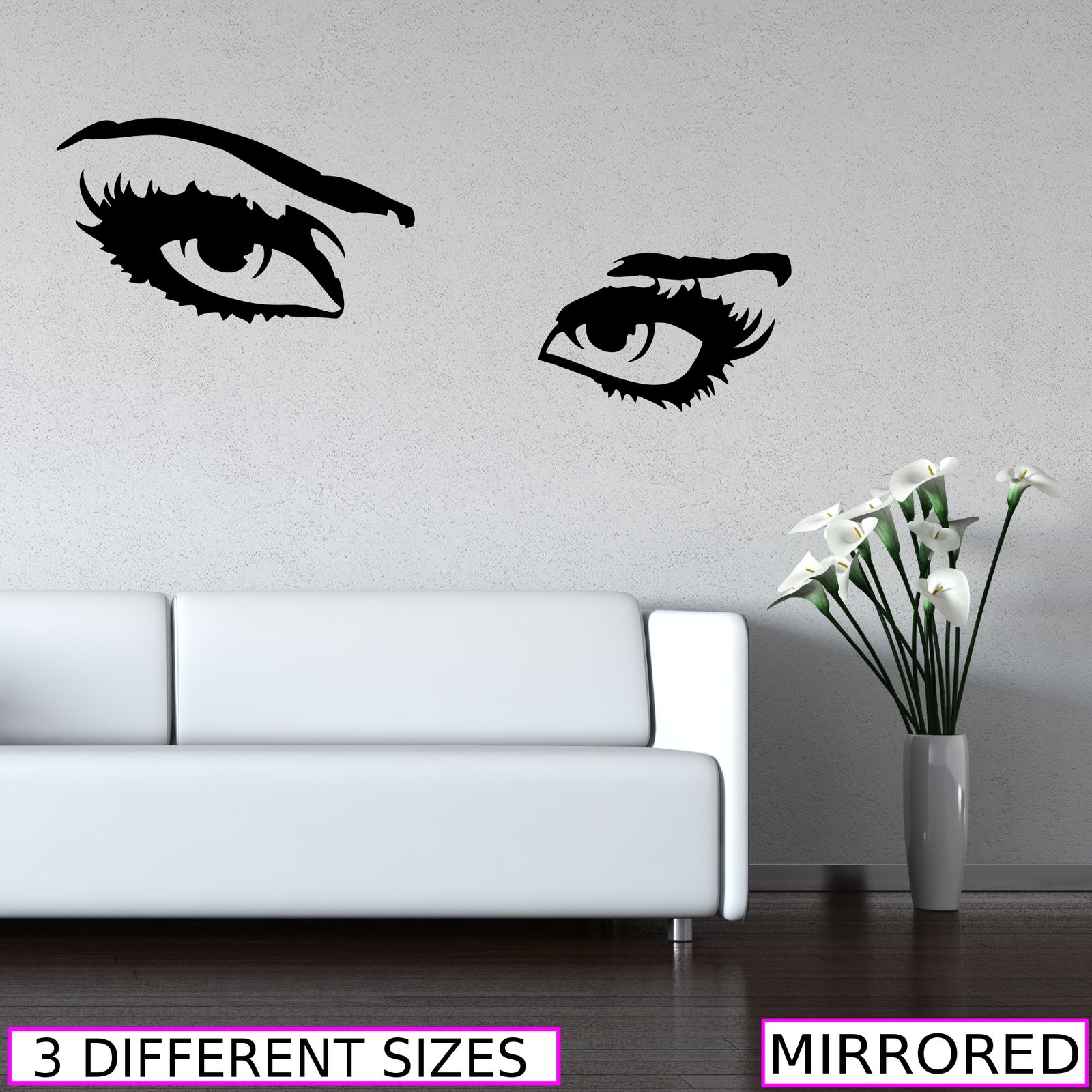 Wall Art Stickers Eyes : Sexy eyes look vinyl wall art stickers decals murals