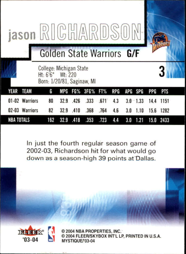 2003-04-Fleer-Mystique-Basketball-Card-Pick thumbnail 7